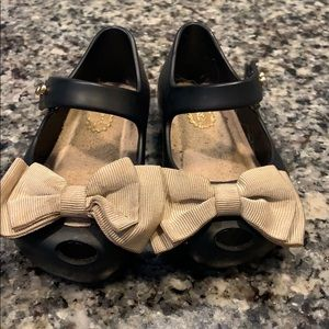 Mini Melissa bows toddler size 5 black